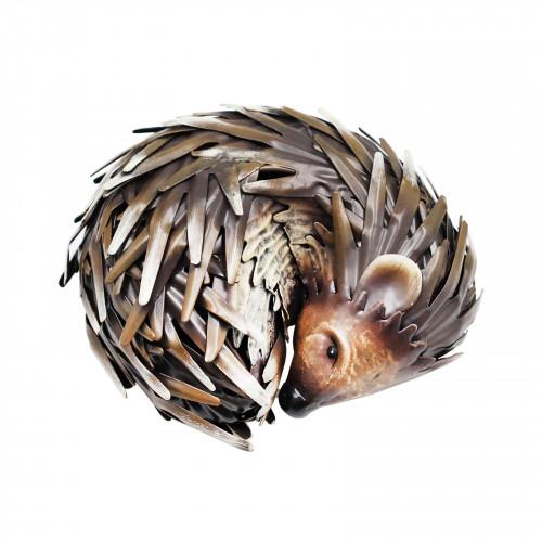 No.PQ1832 Small Metal Sleeping Hedgehog