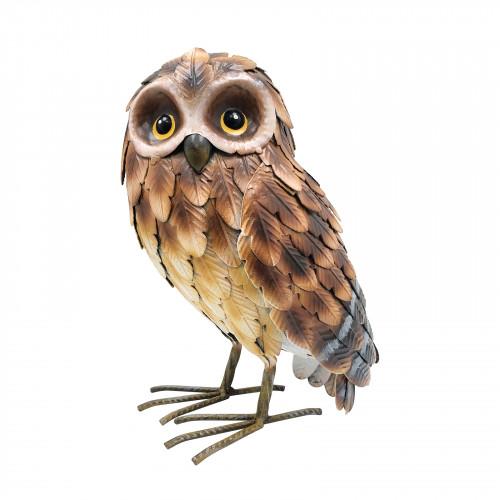 No.PQ1842 Large Standing Metal Brown Owl