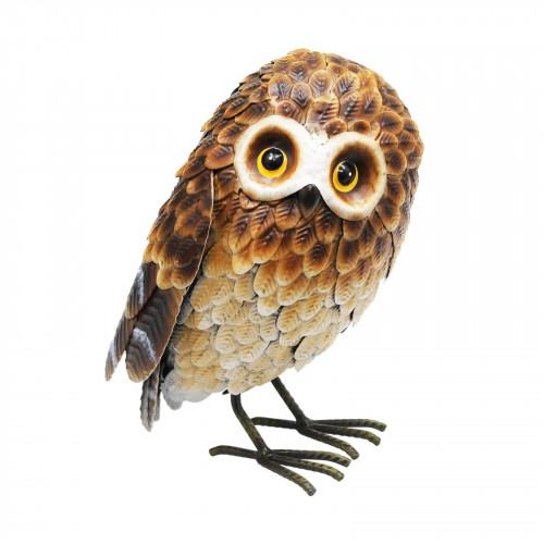 No.PQ1843 Small Standing Metal Brown Owl