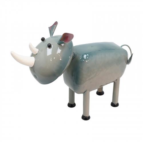 No.PQ2602 Milo The Rhino Metal Garden Sculpture