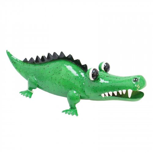 No.PQ2607 Brock The Croc Metal Garden Sculpture