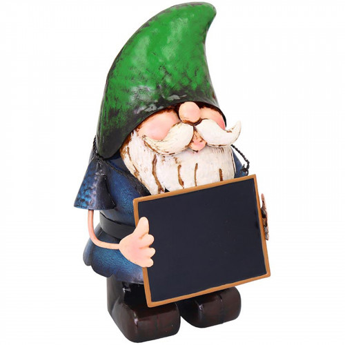 Metal Gnome with Chalk Board PQ5025