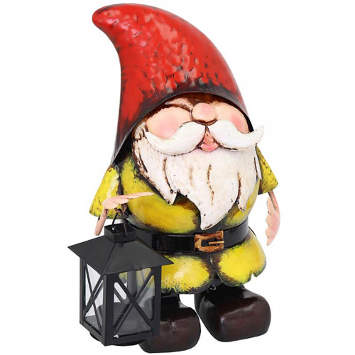 Metal Gnome with Candle Lantern PQ5035