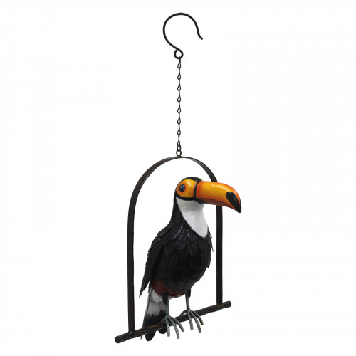 No.PQ7521 Metal Toco Toucan on Hanging Perch