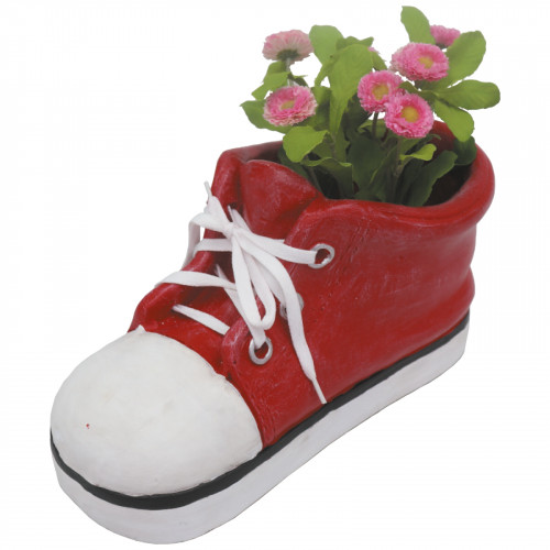 Shoe Planter (Frost Proof Polyresin) - Red