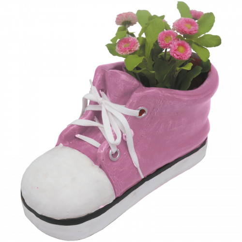 Shoe Planter (Frost Proof Polyresin) - Pink