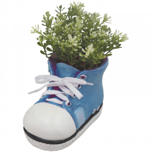 Boot Planter (Frost Proof Polyresin) - Blue