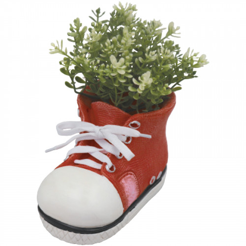 Boot Planter (Frost Proof Polyresin) - Red