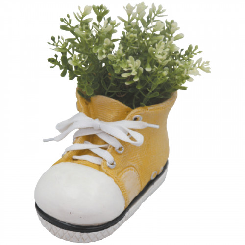 Boot Planter (Frost Proof Polyresin) - Yellow
