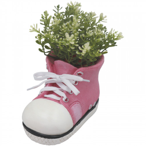Boot Planter (Frost Proof Polyresin) - Pink