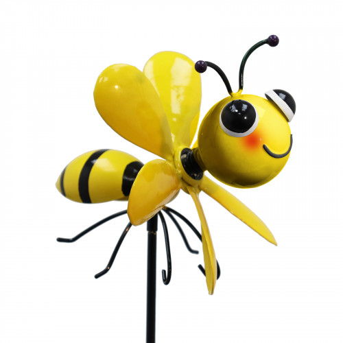 No.PS2041 Metal Spinning Bee Garden Stake