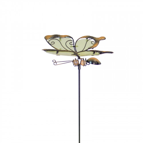No.PS4000 Glass Wing Glow in the Dark Butterfly Stake