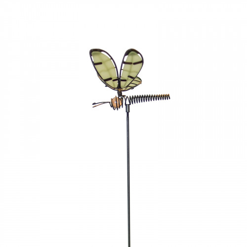 No.PS4001 Glass Wing Glow in the Dark Dragonfly Stake