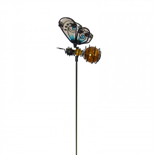 No.PS4050 Glass Bee Stake - Clear Wings