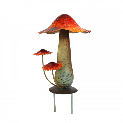 No.PS5000 Metal Toadstool with Ground Pins - Orange