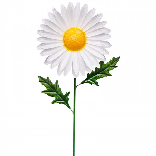 Medium Metal Daisy Garden Stake - White PS8560