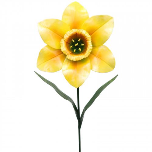 Medium Metal Daffodil Garden Stake - Yellow PS8570