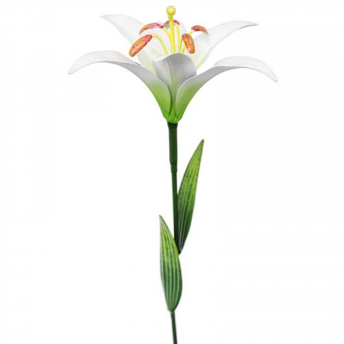Medium Metal Lily Garden Stake - White PS8581