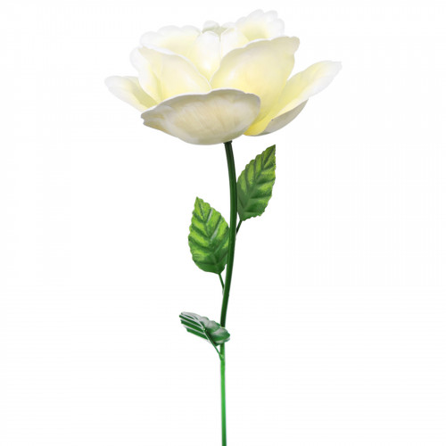 Medium Metal Rose Garden Stake - White PS8592