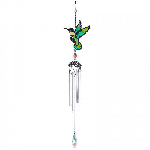 No.PT1001 Stained Glass Hummingbird Wind Chime
