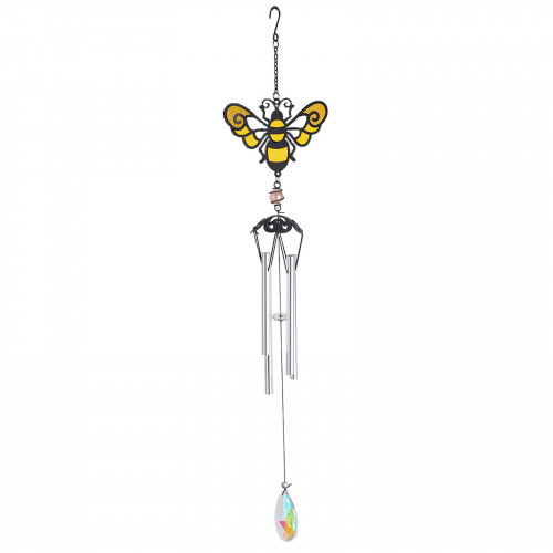 No.PT1002 Stained Glass Honeybee Wind Chime