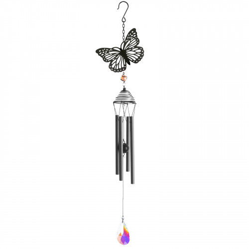 No.PT1010 Silhouette Butterfly Wind Chime - Black