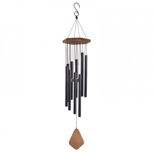 "No.PT1032B Adante Musical Wind Chime - 26"" Satin Black"