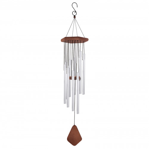 "No.PT1034C Adante Musical Wind Chime - 34"" Satin Chrome"