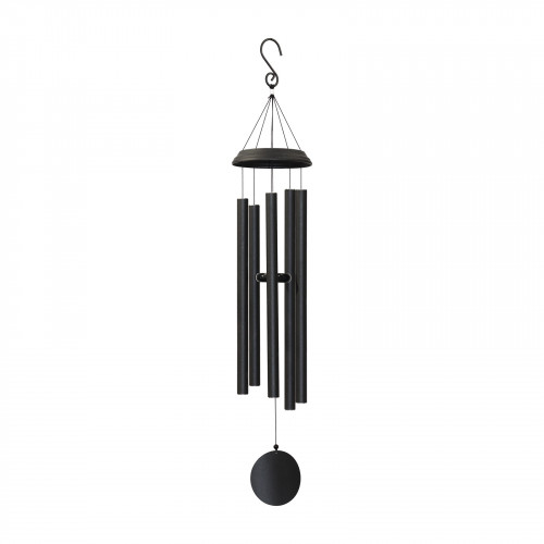 "No.PT1045B Concerto Musical Wind Chime - 48"" Satin Black"