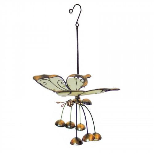 No.PT4000 Glass Wing Glow in the Dark Butterfly Bobbin' Bells