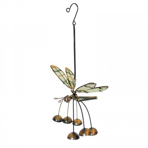 No.PT4001 Glass Wing Glow in the Dark Dragonfly Bobbin' Bells