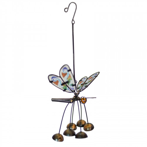 No.PT4020 Glass Wing Fancy Dragonfly Bobbin' Bells