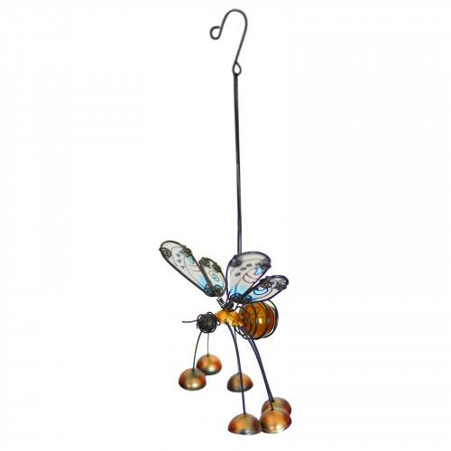 No.PT4050 Glass Wing Fancy Honeybee Bobbin' Bells