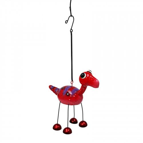 No.PT4102 Red Bobbin Brontosaurus Dino Bell