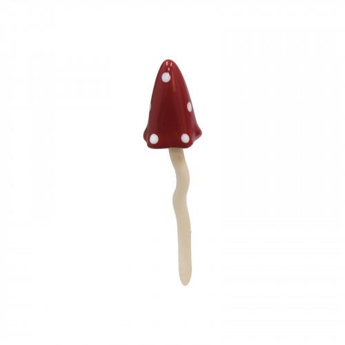 No.PT5010 Small Red Polka Dot Ceramic Tinkling Toadstools