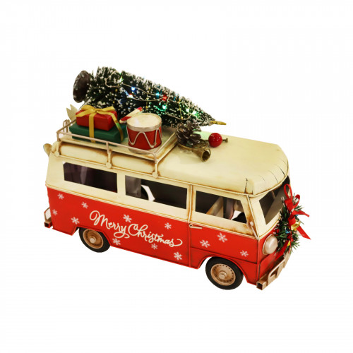 No.PXM3022 LED Vintage Xmas Camper - Small