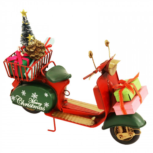 No.PXM3035 LED Vintage Xmas Scooter - Large