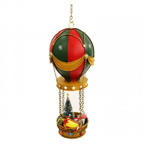 No.PXM3070 LED Vintage Xmas Hot Air Ballon - Red/Green