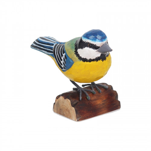 RSPB Hand Carved Wooden Blue Tit