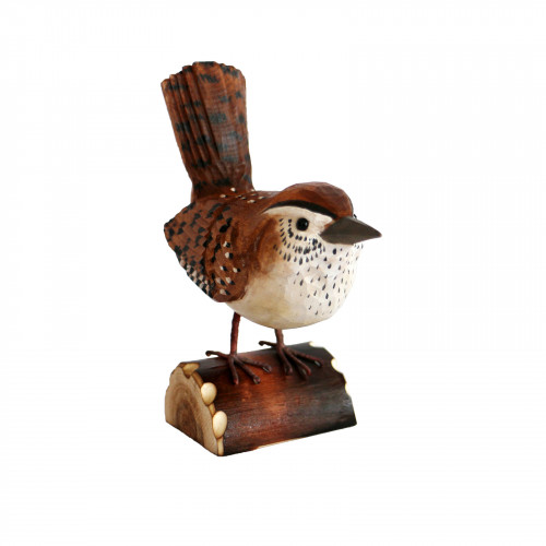 No.RSPB0107 RSPB Hand Crafted Wooden Wren with Display Box