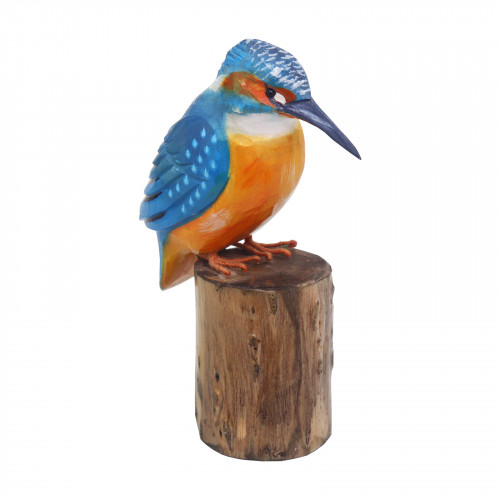 No.RSPB0111 RSPB Hand Carved Wooden Kingfisher