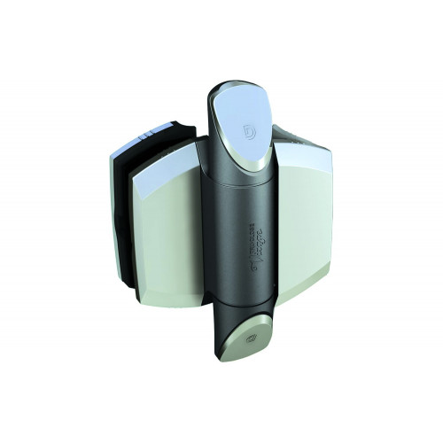 """No.TCAV1PSS D&D TruClose Vizage Hinges (Polished Zirconium Trims) - for Glass Gates and 50mm (2"""") Diameter Posts"""