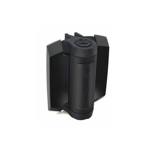 No.TCHD1AL2S3BT D&D TruClose Heavy Duty Hinges with 2 Legs (Black Trim) - for Narrow Metal Gates