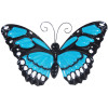 Large Metal Butterfly with Flapping Wings - Blue