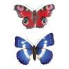 No.PA2350 Medium Metal 3D Butterfly Wall Art - Blue & Red