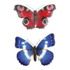 No.PA2351 Large Metal 3D Butterfly Wall Art - Blue & Red