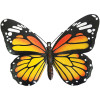 No.PA2352 Small Metal 3D Butterfly Wall Art - Orange