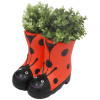 Ladybird Boots Planter (Frost Proof Polyresin) - Red